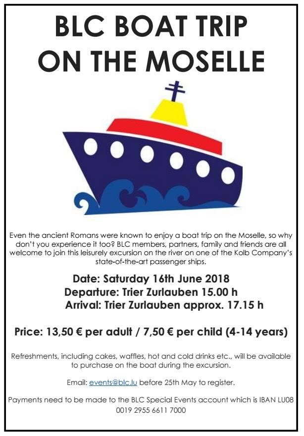 BLC Boat Trip on the Moselle @ Kolb Company