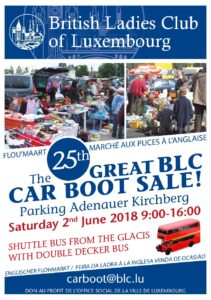 BLC Annual Car Boot @ Parking Adenauer  | Luxembourg City | Luxembourg District | Luxembourg